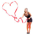 Woman making a heart Stock Image