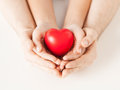 Woman and man hands with heart close up of women men Royalty Free Stock Photos