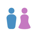 Woman and man symbols Royalty Free Stock Photo