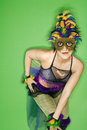 Woman in Mardi Gras costume. Stock Photography