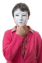 Woman with mask Royalty Free Stock Images