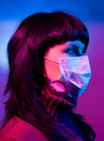 Woman in a medical mask Royalty Free Stock Photo