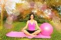 Woman Meditating Outdors