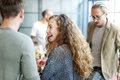 Woman Meeting Work Talking Smiling Concept Royalty Free Stock Photo
