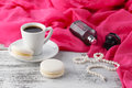 Woman morning time breakfast while ready to dating Royalty Free Stock Photo