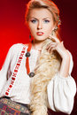 Woman in national costume Royalty Free Stock Photography