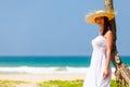 Woman near the ocean Royalty Free Stock Photo