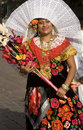 Woman from oaxaca a tehuana the isthmus of tehuantepec on traditional dress the south of in mexico every year during last two Stock Image