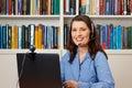 Woman office hotline helpdesk callcenter Royalty Free Stock Photo