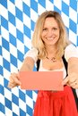 Woman on oktoberfest Royalty Free Stock Images