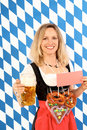 Woman on oktoberfest Royalty Free Stock Photo