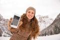 Woman Outdoors Among Snow-capp...