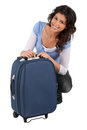 Woman packing bag Royalty Free Stock Image