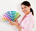 Woman paint house Royalty Free Stock Photo