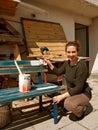 Žena maľovanie