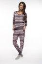 Woman in pajamas Royalty Free Stock Photo