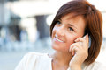 Woman with phone Royalty Free Stock Photo