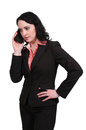 Woman on the phone beautiful talking a cell Royalty Free Stock Photos