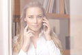 Woman on the phone Royalty Free Stock Photo