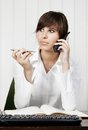 Woman on a phone young Stock Images