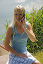 Woman phoning Stock Image
