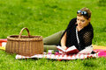 Woman on Picnic Royalty Free Stock Image