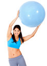 Woman with Pilates ball Royalty Free Stock Photos