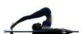 Woman pilates exercises fitness isolated Royalty Free Stock Photo