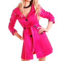 Woman in pink coat Royalty Free Stock Photos