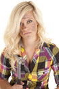 Woman in plaid with hammer Stock Photography