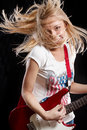 Woman Playing the Guitar Royalty Free Stock Photography
