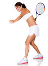 Woman playing tennis Stock Photo