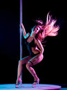 Woman pole dancer Royalty Free Stock Photos