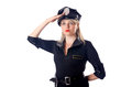 Woman police isolated Royalty Free Stock Images