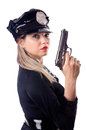 Woman police isolated Stock Photography