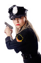 Woman police isolated Royalty Free Stock Photo