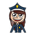 Woman police officer avatar character