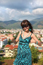 Woman in popular resort city of Marmaris in Turkey Royalty Free Stock Photography