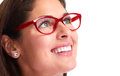Woman portrait with eyeglasses. Royalty Free Stock Photo