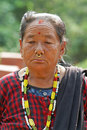 Woman portrait in national nepalese clothes Royalty Free Stock Images