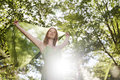 Woman Portrait Relax Nature Outdoor Pretty Concept Royalty Free Stock Photo