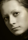 Woman portrait of young beautiful close up Stock Image