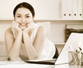 Woman posing in office Royalty Free Stock Photo