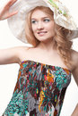 Woman posing wearing sundress Stock Photography