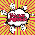 Woman power comics over grunge background vector illustration Stock Photo