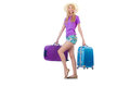 Woman preparing for travel on summer vacation Stock Photo