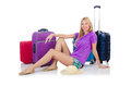 Woman preparing for travel on summer vacation Royalty Free Stock Photo