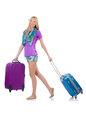 Woman preparing for travel on summer vacation Stock Photography