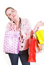 Woman with purchases Stock Image