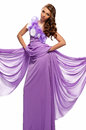 Woman in the purple dress Royalty Free Stock Images